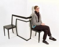 Interesting and Unique Corner Chair by Anton Bjrsing