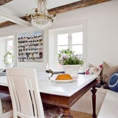 Farmhouse Dining Chairs Yellow Fabric Rocking Chair Casual Rooms: Decorating Ideas For A Soothing Interior