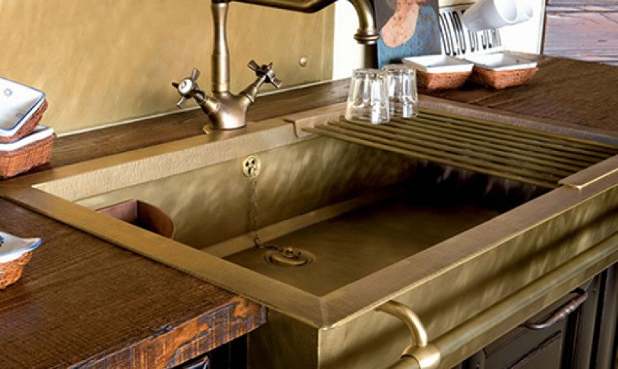 brass sinks that bring about an old