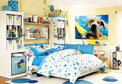 Cool Blue Bedrooms For Teenage Girls