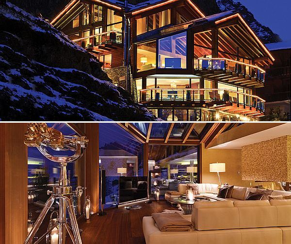 Chalet Zermatt Peak in the Swiss Alps Probably the Most