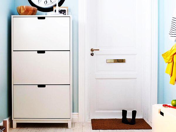 White Shoe Cabinet IKEA Decoist