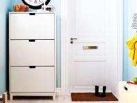 white shoe cabinet IKEA - Decoist