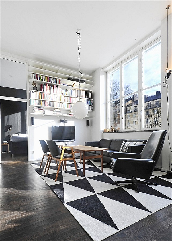 large white kitchen island target appliances black & contemporary loft in stockholm, sweden