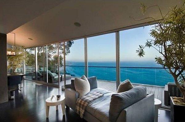 beach house living room designs drink holders ultra-modern malibu villa with outdoor pool, spells luxury