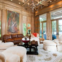 Living Room Furniture Table Abstract Oil Painting For Luxury Palm Beach Mansion Selling An Extravagant $38m