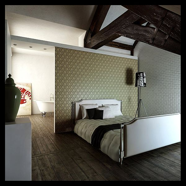 small apartment living room design red black curtains 32 attic bedroom ideas