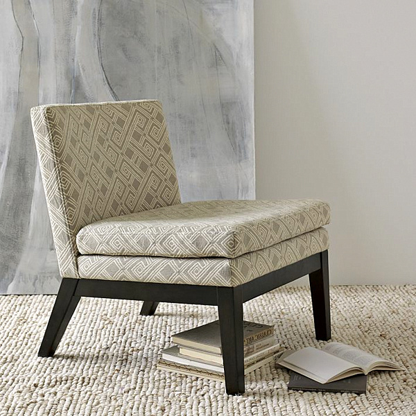 upholstered slipper chair small chairs for spaces decorating with patterned furniture