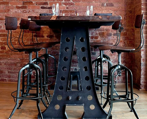 Industrial Dining Table Metal And Woodpng Decoist
