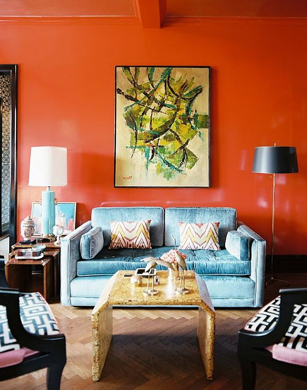 wall painting designs pictures for living room in india what do i need to decorate my decorating with orange: how incorporate a risky color ...