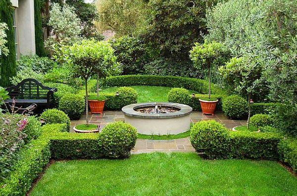 mediterranean green and lush garden