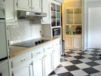 black and white kitchen tile 2017 - Grasscloth Wallpaper