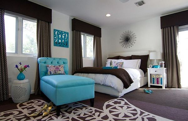 brown and blue bedroom decor > pierpointsprings