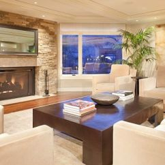 Living Room Tiles Wall Decorating Ideas For Rooms With Brown Leather Furniture Choosing Fieldstone Tile Interior Walls One Of The Best Attributes