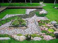 pebble path rock garden - Decoist