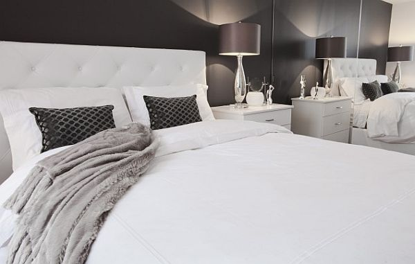grey and white contemporary bedroom Spicing Up Your White Bedroom: The Perfect Backdrop of