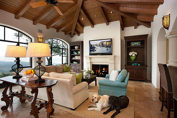 living room in spanish modern ideas red sofa decorating with a influence