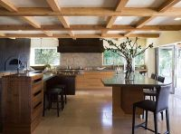exposed beams low ceiling kitchen - Decoist