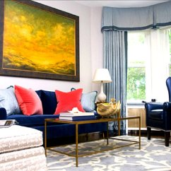 Red Teal Yellow Living Room Suites For Sale Dazzling Jewel-toned Decor