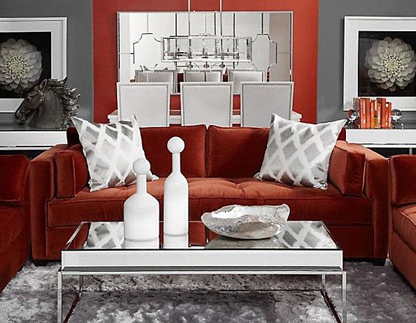 gray velvet slipcover sofa microfiber cleaning style: 20 chic seating ideas