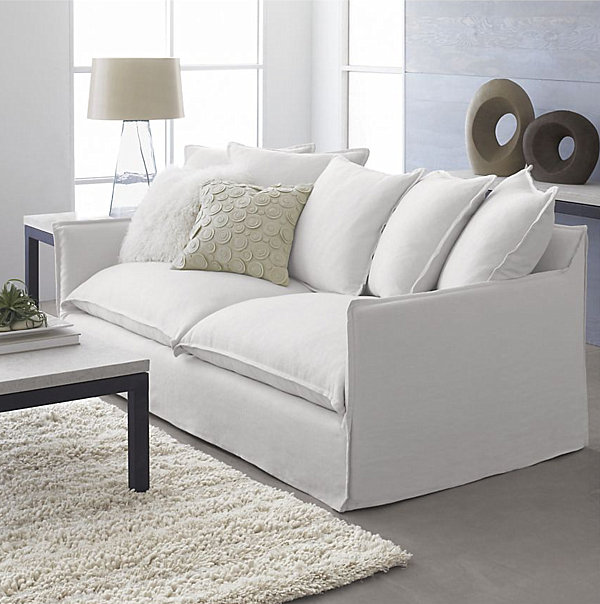 white sofa slipcover cotton quick delivery style: 20 chic seating ideas