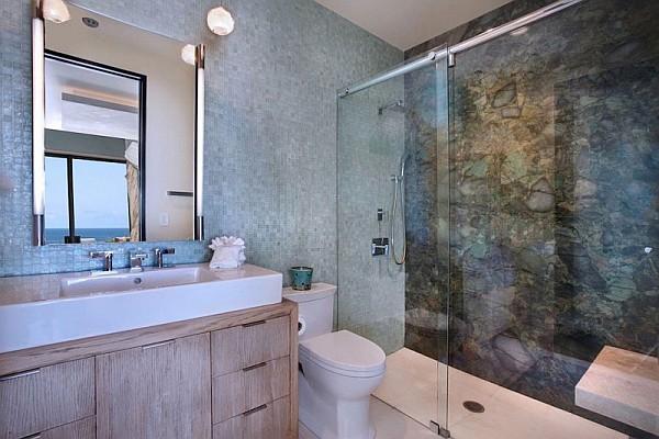 contemporary beach house bathroom California Beach House Spells Luxury and Class