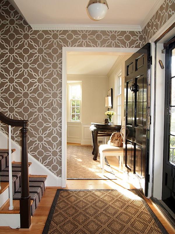stylish entryway wallpaper  Decoist