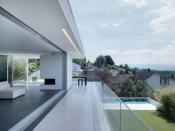 Feldbalz House Contemporary Glass Home with Brilliant Views of Lake Zurich