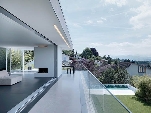Glass Contemporary Feldbalz House living room balcony - THE MOST AMAZING ROOF TOP GLASS HOUSE IDEAS AND PICTURES
