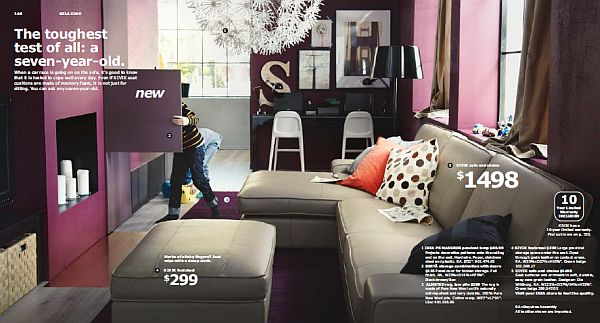 living room inspiration grey sofa tufted furniture ikea 2013 catalog unveiled: for your home