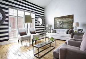 living striped paint wall colors walls decor painting