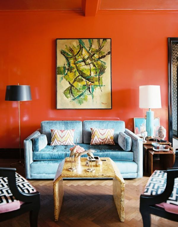 orange living room designs simple decorating for rooms 2 paint ideas find your home s true colors view in gallery a bright