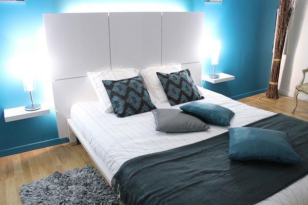 A modern blue bedroom  Decoist