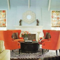 Orange Living Room Designs Apartment Design Paint Ideas Find Your Home S True Colors View In Gallery An Ice Blue