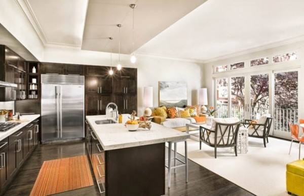wood tile floor kitchen abt appliance packages how to use dark floors brighten your dull home view in gallery