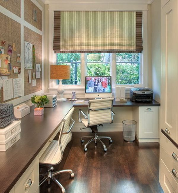 Simple Home Office next to a window with a view