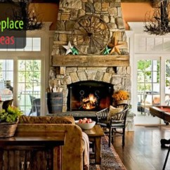 Living Room Decorating Ideas With Stone Fireplace Discount Furniture 40 Designs From Classic To Contemporary Spaces