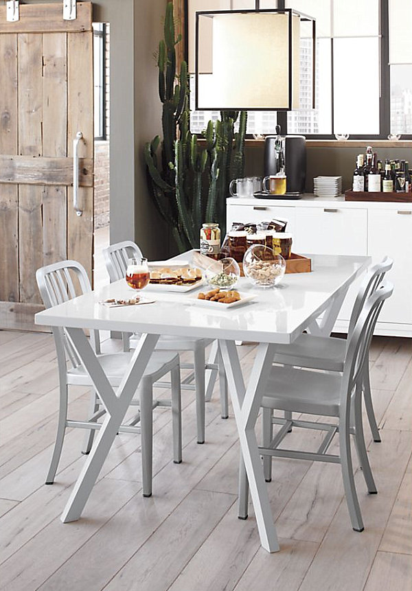 dining table with metal chairs stackable costco chic restaurant to enliven your experience