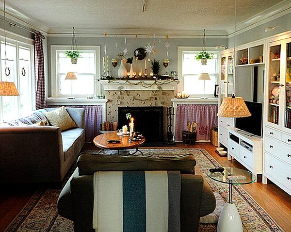 mid century modern living room decor brown leather sofa scandinavian design ideas for the