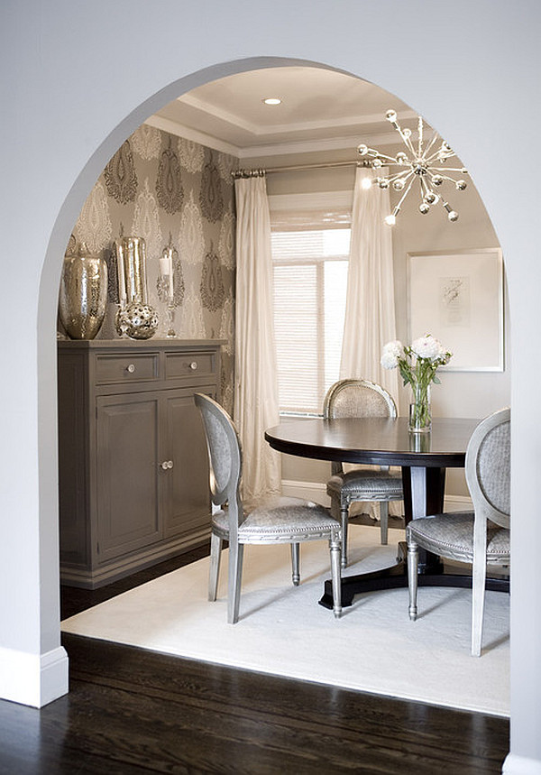 elegant silver dining room chairs  Decoist