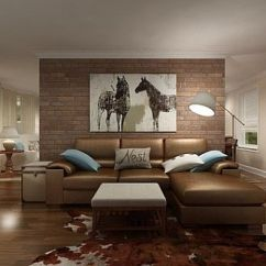 Wall Pictures Living Room Chaise Lounge Chairs Adding An Exposed Brick To Your Home View In Gallery Elegant