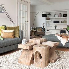 Coffee Tables For Small Living Rooms Complete Room Packages Table Design Ideas And How To Choose Yours View In Gallery Sculpted Logs As Bright