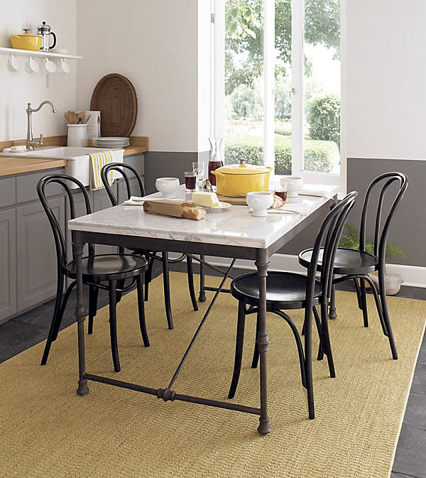 kitchen table and chairs set with booth ergonomic chair meaning chic restaurant tables for the modern home