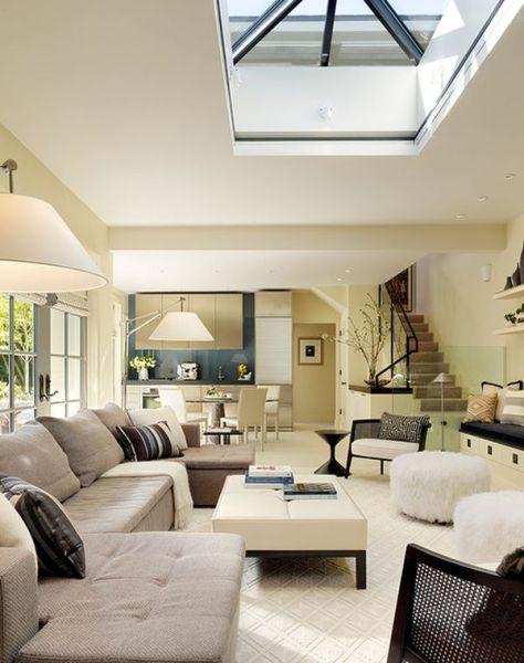 contemporary living room design 30 Inspirational Ideas for Living Rooms with Skylights