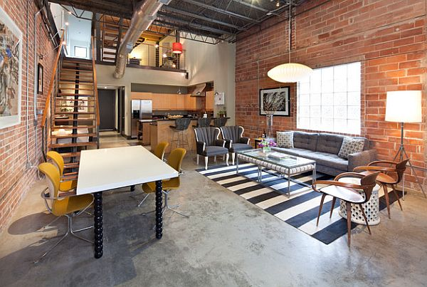 Industrial Style Loft Design With Nested Study Room Decoist