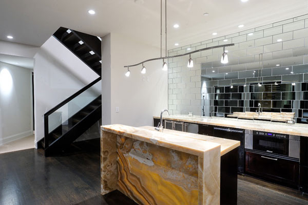 kitchen mirrors outdoor pizza oven design decorative wall for fascinating interior spaces view in gallery mirrored tiles adorning a luxurious
