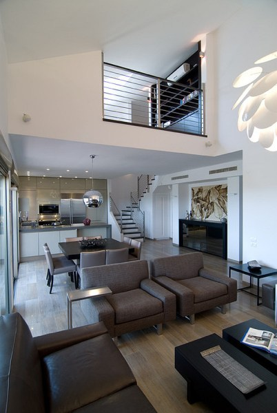 modern loft living room Creative Studies and Studios Designs in Lofts