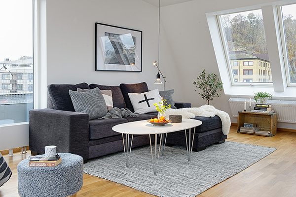 Timeless Design For Modern Scandinavian Attic Apartment
