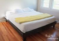king size platform bed frame diy  furnitureplans
