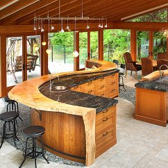 Kitchen Bar Designs 6 Ft Island 12 Unforgettable Chunky Design Using Natural Wood